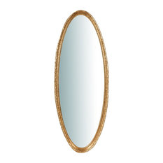 Antique Wall Mirror, Gold, Oval, 50x135 cm