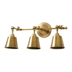 Bathroom Vanity Lights Brass antique brass miners lamp 14'' bathroom vanity lights | houzz