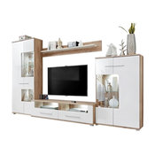 "Saala Entertainment Center Wall Unit With LED Lights 60"" TV Stand"