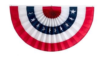 "5-Stripe American Flag Bunting, Cotton, 36""x72"""