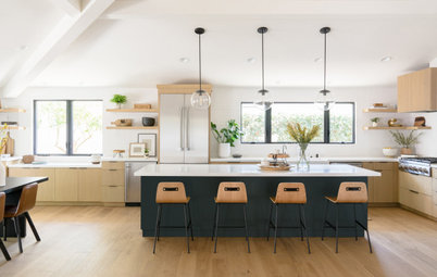 New This Week: 4 Modern-Day Kitchens With Wood Cabinets
