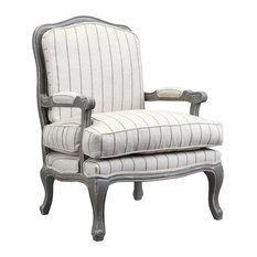 Hasting Armchair, Gray and Ivory