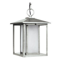 Sea Gull Lighting LED Outdoor Pendant, Weathered Pewter