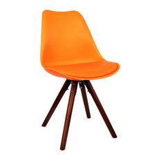Viborg Side Chair Base, Set of 2, Orange Walnut