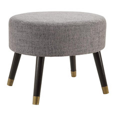 Convenience Concepts   Designs4Comfort Midcentury Ottoman Stool, Gray    Footstools And Ottomans