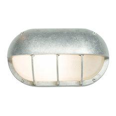 Oval Aluminium Bulkhead Light With Eyelid Shield, G24 Fitting