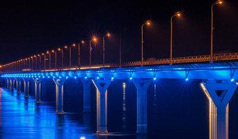 Освещение Волгоградского моста компанией IntiLED