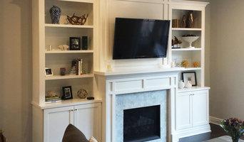 White Mantel with Bookshelves