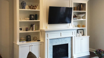 White Mantel with Bookshelves