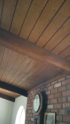 Lighten A Dark Stained Wood Ceiling