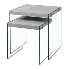 Monarch 2-Piece Nesting Table Set, Gray Cement