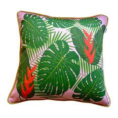 Cush Barcelona   Square Tropical Cushion, Monstera   Garden Cushions