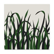 """Grasses"" Vintage Serigraph Artwork by Victor Langer"