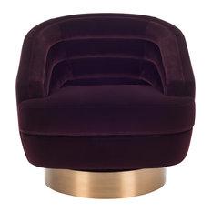 Safavieh Arvilla Swivel Club Chair, Cabernet/Antique Brass
