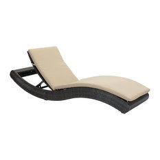 Zuo Synthetic Weave, Sunproof Fabric, Aluminum Frame Chaise Lounge Beige