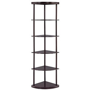 Coaster Corner Shelf, Cappuccino