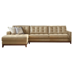 Transitional Sectional Sofas by Lazzaro Leather Inc