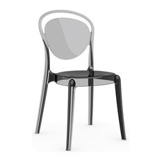 calligaris parisienne chair transparent smoke gray seat finish armchairs and accent chairs