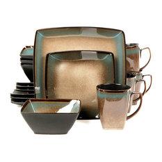 gibson gibson tequesta 16piece square dinnerware set taupe dinnerware sets