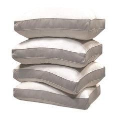 1000 TC Egyptian Cotton Cover Down Alternative Pillow 4-Pack Jumbo White