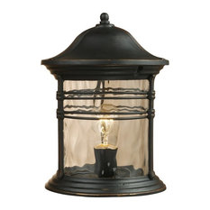 Madison 1 Light Outdoor Post Lamp ELK 08169-MBG Matte Black