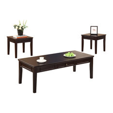 Cocktail And 2 End Tables, Espresso Finish, 3 Piece Set   Coffee Table