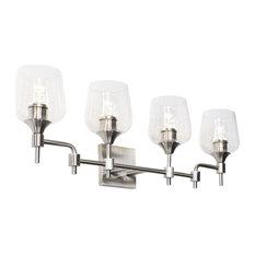 "Varaluz 340B04 Margaux 4 Light 30""W Bathroom Vanity Light - Nickel"