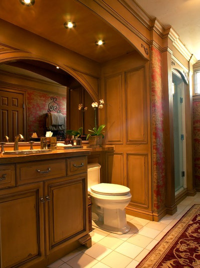 Elegant Traditional Bathroom by Roomscapes Cabinetry and Design Center
