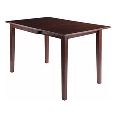 """Winsome Perrone 48"""" Solid Wood Drop Leaf Dining Table in Walnut"""