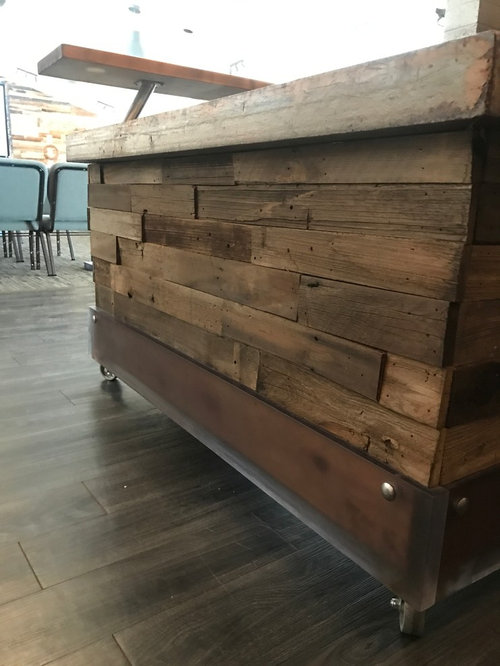 Reclaimed Wood Reception Desk How To Build A Rustic Small T Myaplic Co