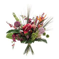 Emerald - Contemporary Tropical Artificial Bouquet - Artificial Plants and Trees