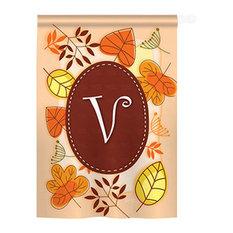 Autumn V Monogram 2-Sided Vertical Impression House Flag