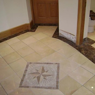 Marble floor with border