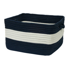 "Rope Walk, Navy Utility Basket, 18""X12"""