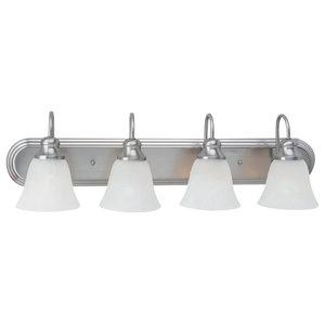 Sea Gull Lighting 4-Light Windgate Sconce, Brushed Nickel