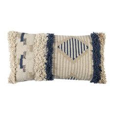 """Kosas - Kosas Andros 100% Cotton 14""""x26"""" Throw Pillow, Natural - Decorative Pillows"""