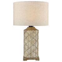 Sloan Outdoor Table Lamp in Brown and Gray