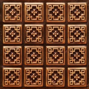 model 103 faux tin ceiling tile glue up 24x24 antique copper ceiling