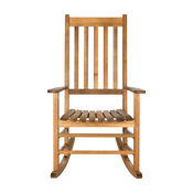 Safavieh Shasta Outdoor Rocking Chair, Teak Look