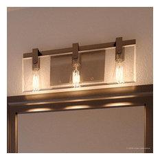 Luxury Farmhouse Bath Vanity Light, Bristol Series, Brushed Nickel