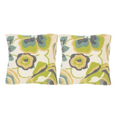 Jacobean Floral Pillows, Set of 2