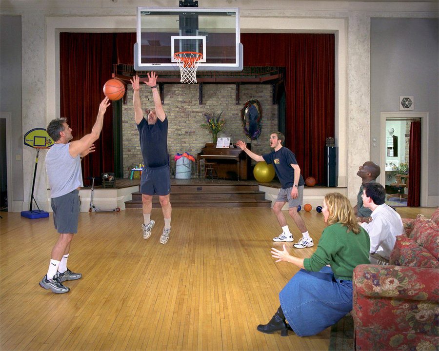 Basketball in the living room