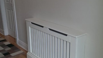 linear radiator cover in ivory