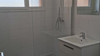 réhabilitatin de salle de bain
