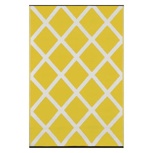 Diamond Indoor/Outdoor Rug, Mimosa Yellow and Cream, 150x240 cm