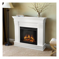 Chateau Electric Fireplace in White