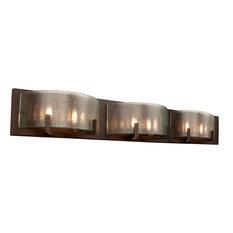 "Rogue Decor 611240 Firefly 6 Light 33""W Bathroom Vanity Light - Bronze"