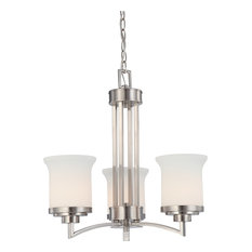 Harmony 3 Light - Chandelier With Satin White Glass