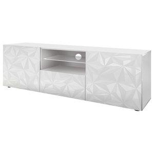 Prisma Decorative TV Unit, 181 cm, White