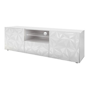 Prisma Decorative TV Unit, 181 cm, White